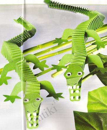 Art For Kids Little Crocodiles From Paper