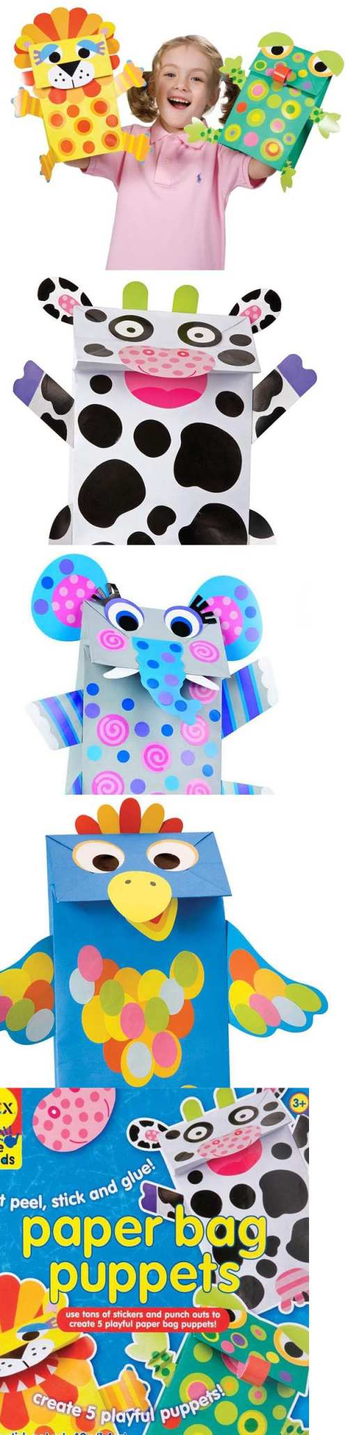 4 year old arts and crafts - Art For Children A Creative Set For Kids Paper Zoo Alex