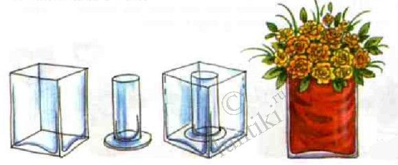 Children crafts. The lessons of floristics for kids - decorate the room, the vases for flowers